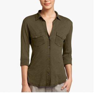 James Perse Heer Slub Super Soft Shirt NWT